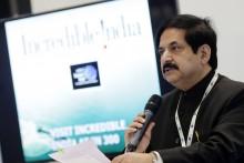 World Travel Market 2015, ExCel, London - India Buyers' Club Reception. Mr Vinod Zutshi Secretary of Tourism India