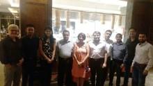Mr. Senanayake and the team addressing travel agents