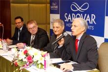 L - R - Saurabh Chawla, Pierre-Frédéric Roulot, Anil Madhok, Ajay K. Bakaya