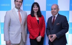 Greek National Tourism Organization delegates with the Tourism Minister of Greece