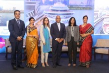 GB Srithar with the panellists